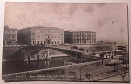 PUGLIA TARANTO PONTE GIREVOLE VISTO DALLA CITTà VECCHIA Formato Piccolo Viaggiata 1919 Affrancatura Asportata Condizioni - Taranto