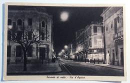 PUGLIA TARANTO VIA D'AQUINO DI NOTTE Formato Piccolo Viaggiata 1946 Condizioni Buone - Taranto