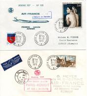 Paris Kuwait Koweit Safat 1973 - 1er Vol Air France Boeing 707 - Inaugural Flight Erstflug - Kuwait