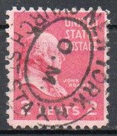 United States, 1938 - 2 Cents  John Adams - Usato° Nr.806 - Used Stamps