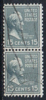 United States, 1938 - 15 Cents  James Buchanan, Coppia - Nr.820 Usato° - Used Stamps