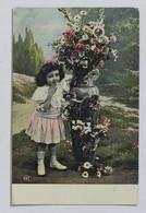 99742 Cartolina - Bambina Con Fiori - VG 1909 - Taferelen En Landschappen