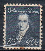 United States, 1965/78 - 40c Thomas Paine - Nr. 1292 Usato° - Used Stamps