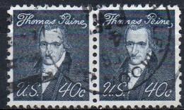 United States, 1965/78 - Thomas Paine, Coppia - Usato° Nr. 1292 - Used Stamps