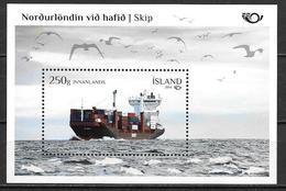 Islande 2014, Bloc N° F1346 Neuf Norden Bateau Cargo - Blocks & Sheetlets
