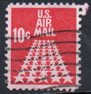 United States, 1968 - 10 Cents 50 Stars Runway - Usato° Nr.C72 - 3a. 1961-… Used