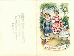 Petit Calendrier Ancien Publicitaire 1956 Illustrateur MATEJA Matéja * Laiterie Marie Antoinette à La Varenne * Calendar - Petit Format : 1941-60