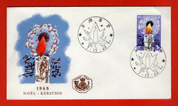BELGIUM, 1968, Mint FDC,  Christmas, SG Nrs. 2544,  Scan Nr. F307 - Briefe U. Dokumente