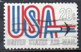 United States, 1968 - 20c USA And Jet - Nr.C75 Usato° - 3a. 1961-… Used