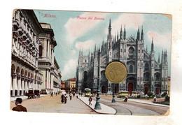 MILANO PIAZZA DEL DUOMO Viaggiata  VEDI RETRO - Milano (Milan)
