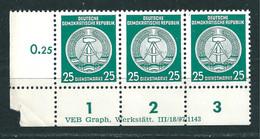 MiNr. D 23 ** Druckvermerk ( DV ) R 1-3:  VEB Graph. Werkstätten  III/18/97/1143 - Dienstpost