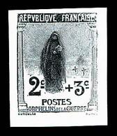 N°148, Orphelins: Ensemble De 3 épreuves En Noir Dont 2 Non émises Et 1 Sans Valeur Faciale, TB (certificat)  Qualité: ( - Unused Stamps