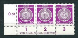MiNr. D 26 ** Druckvermerk ( DV ) R 1-3: VEB Graph. Werkstätten  III/18/97/1203 - Dienstpost