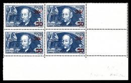N°493a, Ader Surchargé Papier Mince En Bloc De Quatre. TB  Qualité: **  Cote: 360 Euros - Unused Stamps