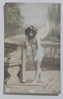 99564 Cartolina - Bambino Vestito Da Angelo - VG 1907 - Taferelen En Landschappen