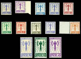 N°1/15, Série Francisque De 1943 (sf:N°5 Et 6), Les 13 Valeurs TB (certificat)  Qualité: (*)  Cote: 735 Euros - Ungebraucht