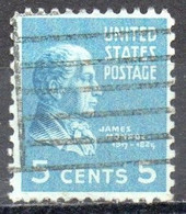 United States, 1938 - 5 Cents  James Monroe - Nr.810 Usato° - Used Stamps