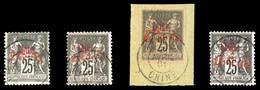 N°19/22, Série De 1901, Les 4 Valeurs SUP. R.R. (certificat)  Qualité: Oblitéré  Cote: 1800 Euros - Gebraucht