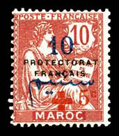 N°58, +5c Sur 10c, SUP (certificat)  Qualité: *  Cote: 520 Euros - Unused Stamps