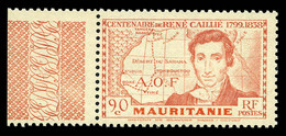 N°95a, René Caillié, 90c Rouge Terne, GRANDE LEGENDE, Bdf, SUP (certificat)  Qualité: **  Cote: 585 Euros - Unused Stamps