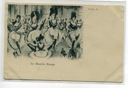 75 PARIS Le Moulin Rouge Les Danseuses De French Cancan  1900 Dos Non Divisé    D17  2021 - Non Classés