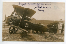 AVIATION NEUSTADT 035  Régim 12 Em RAB CARTE PHOTO Avion BREGUET RENAULT 16 Tri Hélice Vol De Nuit NANCY - Sin Clasificación