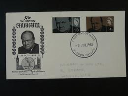 FDC President Winston Churchill Great Britain 1965 Ref 101724 - 1952-1971 Dezimalausgaben (Vorläufer)