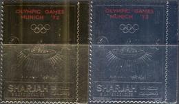 M4412 ✅ Sports Summer Olympic Games Athletic GOLD SILVER 1972 Sharjah 2v Set MNH ** - Estate 1972: Monaco