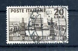 1950 REP. IT. SERIE COMPLETA USATA Fiera Di Milano - 1946-60: Used