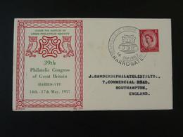 Lettre Cover Chouette Owl Harrogate Philatelic Congress 1957 Great Britain Ref 101733 - Covers & Documents