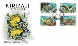 Kiribati 1985 Reef Fishes - Fish FDC - Kiribati (1979-...)