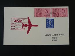 Lettre Premier Vol First Flight Cover Paris Wien Caravelle AUA Austrian Airlines 1963 Ref 101736 - Covers & Documents