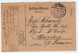57 SAINT PRIVAT La Montagne Correspondance Militaire Sur Carte Réponse En Franchise 10 Janvier 1916 - Guerres