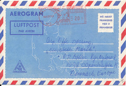 USA Danish Aerogramme Sent To Denmark With Meter Cancel Baltimore 29-5-1969 - 3c. 1961-... Covers