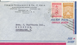 Dominican Air Mail Cover Sent To Denmark 28-10-1958 - Dominican Republic