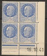 CD 520 FRANCE 1941 COIN DATE 520 : 16 / 10 / 41 EFFIGIES DU MARECHAL PETAIN - 1940-1949