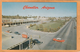 Chandler Az Coca Cola Advertising Sign Old Postcard - Chandler