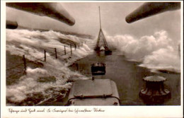 Kreuzer , Stange U. Heck Bei Schlechtem Wetter. Feldpost 1941 Mit Stempel Brake. Marine - Oorlog 1939-45