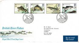 Great Britain 1983 River Fishes FDC - 1981-1990 Dezimalausgaben