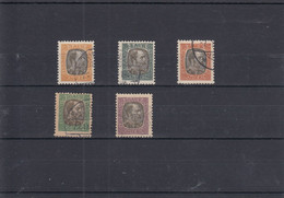Michel Nr. 17-23 Dienstmarken 17-19 + 22-23 König Christian IX - Used Stamps