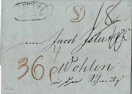 "1839, "" LEIPZIG "" Selt. Stp. "" S "" (aus Sachsen),  A5787 - Sachsen"
