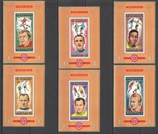 AR076 1972 MANAMA GOLD MUNICH FOOTBALL OLYMPIC GAMES WORLD CUP MICHEL #718-23 25 EURO 6BL MNH - Estate 1972: Monaco