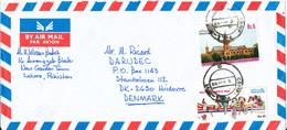 Pakistan Air Mail Cover Sent To Denmark 6-11-1990 - Pakistan