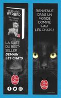 Marque Page.    Bernard Werber.   Sa Majesté Des Chats.   Livre De Poche.   Chat.   Bookmark. - Bookmarks