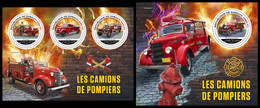 DJIBOUTI 2021 - Fire Engines, M/S + S/S. Official Issue [DJB210414] - Firemen