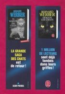 Marque Page.    Bernard Werber.   La Saga Des Chats.   Livre De Poche Et Albin Michel.   Chat.   Bookmark. - Bookmarks