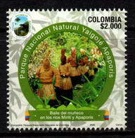 """A886E - KOLUMBIEN - 2020- MNH- """"BAILE DEL MUÑECO"""" TRADITIONAL INDIAN DANCE - NATURAL PARKS- VI ISSUE - Colombia"""