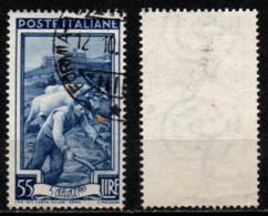 # Italia Al Lavoro 55 Lire Filigrana Ruota 1 Destra Bassa - 1946-60: Used