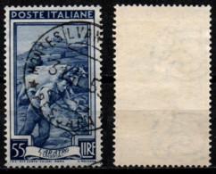 # Italia Al Lavoro 55 Lire Filigrana Ruota 1 Sinistra Alta - 1946-60: Used