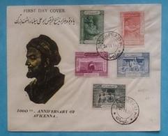 Persia Iran Complete Set On Cover FDC 1954 Avicenna 1000th Anniversary - Iran
